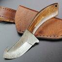 スキナー DM-1063 ダマスカス鋼 ガットフック付 皮剥ぎ スキニング 解体用ナイフ スキナーナイフ 狩猟ナイフ ハンティングナイフ ハンターナイフ 通販 販売