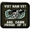 ミリタリーワッペン ベトナム プラウド 四角 戦争 退役軍人 | ミリタリーミリタリーパッチ アップリケ 記章 徽章 襟章 肩章 胸章 階級章