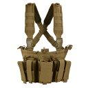 CONDOR チェストリグ MCR5 リーコン M4/ピストルマガジン6本 コヨーテブラウン OUTDOOR コンドルアウトドア 弾薬帯 M4マガジンポーチ M16マガジンポーチ M4マグポーチ M16マグポーチ サスペンダー