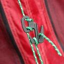 マグライト関連商品で有名なナイトアイズのロープの結束プラ具です難しいロープの結束方法を覚えることなく簡単に荷物の固定、結束ができます