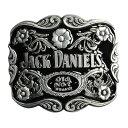 ベルトバックル JACK DANIELS ボトルデザイン Old No.7 ジャックダニエル ウイスキー ナンバーセブン 花 ベルト用バックル アメリカン..