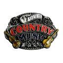 ベルトバックル I LOVE COUNTRY MUSIC 交換用 ベルト用バックルのみ アメリカンバックル BUCKLE メンズ 取替え用バックル 付け替えバックル