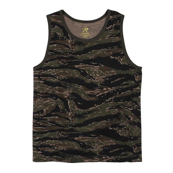 Rothco タンクトップ コットン混紡 迷彩 [ タイガーストライプ / Mサイズ ]  Rothco メンズTシャツ 半そで プリント デザイン スポーツ ミリタリーTシャツ ミリタリーシャツ