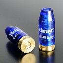 9mm拳銃などに使用する.40S&W弾のスナップキャップ、5個セットです弾の表面にパックマイヤーの刻印あり