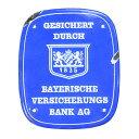 ホーロー看板 ドイツ製 バイエルン保険銀行 サインプレート レトロ雑貨 紋章 ディスプレイ インテリア 壁掛け
