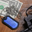 アルミ製 カラー ドッグタグ 刻印付 フルセット [ ブルー ] ドックタグ 認識票 DOG TA