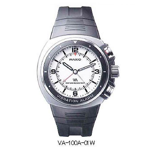 マキシオ 激震 プレミアム ホワイト MAXIO GEKISIN VA-100A-01W スーパー振動アラームウォッチ!強力な振動で設定した時刻を自分だけにお知らせ
