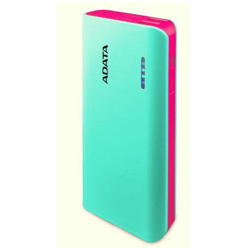 ADATA LEDライト付モバイルバッテリー 10000mAh ティファニーブルー/ピンク PowerBank APT100-10000M-5V-CTBPK