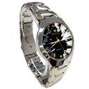 ■Herrlich「天然ダイヤ5石腕時計」■ブラック/ホワイト