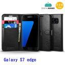 Spigen Galaxy S7 Edge ウォレットS【Black】国内正規品 あす楽対応samsung Galaxy S7 edge SC-02H SCV33 simフリー サムスン スマホケース Galaxy S7 edge ケース spigen 手帳型 手帳 sc-02h ギャラクシーs7 エッジ galaxy s7 edge ケース10P03Dec16