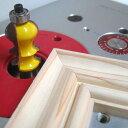 トリマー ビット フェイスモールディング カッター ( カナディアン ) 1/4軸 Microtungsten carbide 【dm12903】