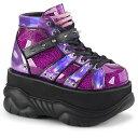 ショッピングハイヒール 【取寄】 DEMONIA デモニア ブーティ メンズ 紫 パープル グリッター 大きいサイズ 靴 22.5 23 23.5 24 24.5 25 25.5 26 26.5 27 27.5 28 28.5 29 29.5 30 cm センチ