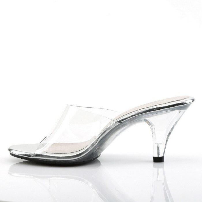 取寄せ靴 送料無料 クリア ミュールサンダル ...の紹介画像3