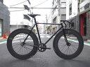 ピストバイク カスタム完成車 CARTEL BIKE カーテルバイク JAPANPRIDE BLACK F&R 88mm CARBONWHEEL CUSTOM BIKE ジャパンプライド カーボンホイール カスタム ブラック PISTBIKE