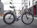 ピストバイク カスタム完成車 CARTEL BIKE カーテルバイク JAPANPRIDE BLACK R 88mm CARBONWHEEL CUSTOM BIKE ジャパンプライド R 88mm カーボンホイール カスタム ブラック PISTBIKE