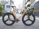 ピストバイク カスタム完成車 CARTEL BIKE カーテルバイク JAPANPRIDE 3SPOKE F&R CARBONWHEEL CUSTOM BIKE ORG ジャパンプライド 3スポーク F&R カーボンホイール オレンジ PISTBIKE