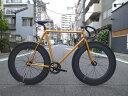 ピストバイク カスタム完成車 CARTEL BIKE カーテルバイク JAPANPRIDE BLK 88mm CARBONWHEEL F&R CUSTOM BIKE ジャパンプライド 88mm カーボンホイール カスタムバイク オレンジ PISTBIKE