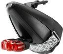 ピストバイク サドルバッグ fi'zi:k フィジーク Saddle Bag TA:KE + CATEYE RAPID3 キャッツアイライト付きサドルバッグ