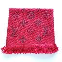 Louis Vuitton ルイ ヴィトン ルビス ロゴマニア LV ロゴ ウール スキル スカーフ ミント ルビー レッド Rubis Logomania LV Logo Wool Silk Scarf | MINT | Ruby Red