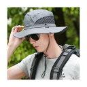 ショッピング帽子 グレー メンズ レディース 兼用 ハット 帽子 夏 メッシュ 通気性 登山 海ビーチ 釣り アウトドア サファリハット フィッシング UV ケア