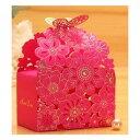 かわいい お花 の ラッピング ボックス ピンク S