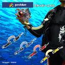 【メール便発送も可能!】PROBLUE[プロブルー]スナッピーコイル[AC-30-8]水中ライト・デジカメホルダー