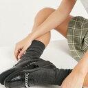 ショッピングcrocs レイド Raid ブラッククロックスのチェーンディテールが施されたRAIDAleemaフラットシューズ 靴 レディース 女性 インポートブランド 小さいサイズから大きいサイズまで