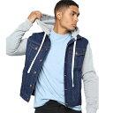 LA発!FASHION NOVA(ファッションノバ) インポートブランド メンズ スウェット フード デニム jacket デニムジャケット 日本未入荷 大きいサイズあり 流行 最新 メンズカジュアル edm フェス ファッション
