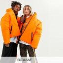 ASOSセレクト COLLUSION asos ASOS エイソス メンズ COLLUSION Unisex オレンジ色 無地 フグ ジャケット 大きいサイズ インポート エクストリームスーパースキニーフィット スウェットパンツ ジーンズ ジーパン 20代 30代 40代 ファッション コーディネート