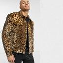 ショッピングEDITION ASOS EDITION フェイクファー ヒョウ柄 ブラウン ウエスタン ジャケット 20代 30代 40代 ファッション コーディネート小さいサイズから大きいサイズまで オシャレ トレンド インポート トレンド