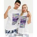 ASOSセレクト COLLUSION asos ASOS エイソス メンズ COLLUSION Unisex 白 印刷 Tシャツ 大きいサイズ インポート エクストリームスーパースキニーフィット スウェットパンツ ジーンズ ジーパン 20代 30代 40代 ファッション コーディネート