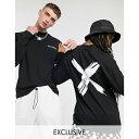 ASOSセレクト COLLUSION asos ASOS エイソス メンズ COLLUSION Unisex ブラック 印刷 ロング スリーブ Tシャツ 大きいサイズ インポート エクストリームスーパースキニーフィット スウェットパンツ ジーンズ ジーパン 20代 30代 40代 ファッション コーディネート