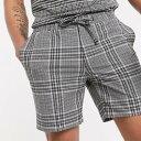 トップマン シアサッカー ショーツ(ブラック&ホワイトチェック) パンツ メンズ 男性 小さいサイズから大きいサイズまで 20代 30代 40代 ファッション コーディネート