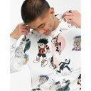 ショッピングタープ ASOS DESIGN キャラクター プリント Beano レギュラー フィット シャツ トップス 半袖 メンズ 男性 20代 30代 40代 ファッション コーディネート
