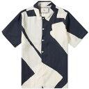 ショッピング大きいサイズ 水着 フォーク FOLK フォーク半袖オールオーバープリントシャツ トップス メンズ 男性 インポートブランド 小さいサイズから大きいサイズまで