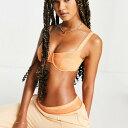 We Are We Wear 私たちはオレンジ色のエコメッシュシアーバルコネットブラを着用しています 下着 レディース 女性 インポートブランド 小さいサイズから大きいサイズまで