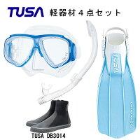 TUSA(ツサ) 軽器材4点セットスプレンダイブ2 M-7500US-TUSA ハイパードライエリート2 スノーケルリブレーターテンロングブーツスキューバダイビング・シュノーケリングの画像