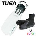 TUSA ツサ ダイビング フィン ブーツ スキューバダイビング 軽器材 2点セット 軽器材セット 【5000-Hboot】リブレーター テン シュノー..