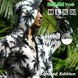 ラッシュガード メンズ 長袖 UVカット ラッシュパーカー パーカー HeleiWaho Classic Palm 水着 体型カバー