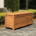 ボックスベンチストッカー(収納ボックス) ガーデンファニチャー 天然木 ブラウン(BB-W90BR) 900×330×405mm (約10kg)