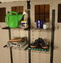 物置 専用オプション ホームデザイン物置 サンキャスト Alpine(アルパイン)専用オプション シェルフシステム (BMSA1S) スチール おしゃれ 収納庫 物置き diy キット 屋外 倉庫 物置小屋 屋外収納庫 保管庫 ガーデン用品 SUNCAST アメリカ製