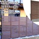フェンス 樹脂 目隠し 人工木 1825 本体+柱1本 幅90×