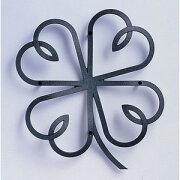 アルミ鋳物 妻飾り(オーナメント) クローバーリーフタイプ【ニチハ】(FFA5188 ブラック)