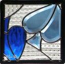 ステンドグラス (SH-D12) 200×200×18mm デザイン トランプ スペード モダン ピュアグラス Dサイズ (約2kg) ※代引不可