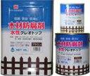 クレオソートに代わる木材防腐剤 クレオトップ 【水性】 14L(ブラック)
