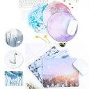 【送料無料】 マウスパッド おしゃれ 北欧 かわいい シルク さらさら感触 裏面ラバー素材 しっかりホールド ズレにくい 全9色