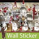 ウォールステッカー クリスマス 雪 装飾 結晶 白 ホワイト...