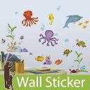ウォールステッカー イルカ 魚 さかな 海の生き物 海中 [アドベンチャーアンダーザシー] ルームメ
