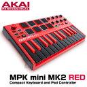 AKAI professional(アカイ) MPK mini MK2 RED