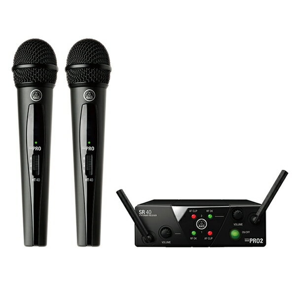 AKG WMS40 PRO MINI2 VOCAL SET DUAL (2チャンネル・モデル)